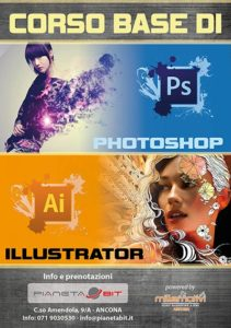 volantino corsi photoshop e illustrator